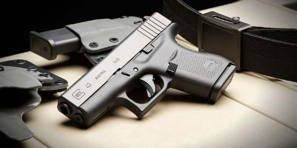 The brand new Glock 43 9mm Single Stack Pistol